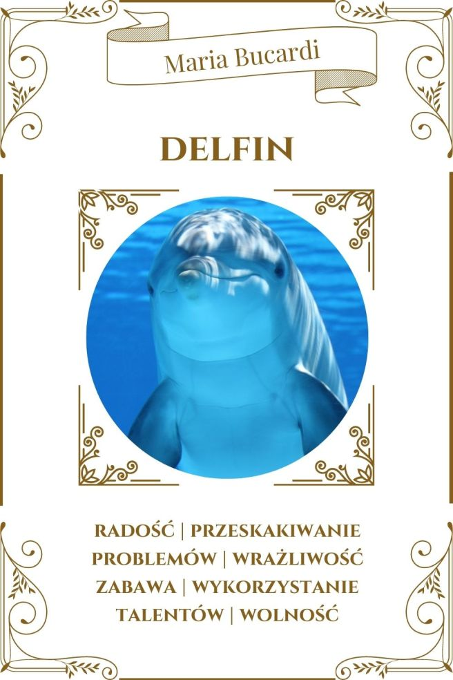 Delfin Zwierzę Mocy Karty Marii Bucardi